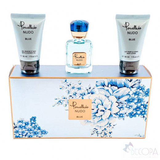 Nudo Blue Set EDP 25ml Bath & Shower Gel 30ml Body Lotion 3